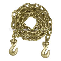 G80 Tie Down Chain Welded on Chain Hooks