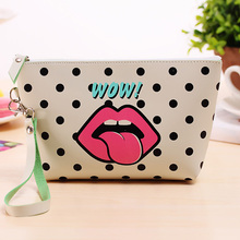Promotional Custom Personalised Printed Logo Waterproof Canvas Cosmetic Pen Pencil Pouch Bag Case
