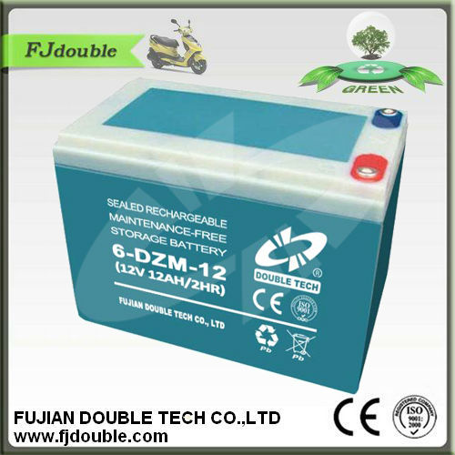 6-DZM-12 deep cycle rechargeable storage battery for e-bike 12V 12AH