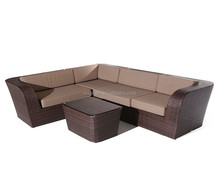 088 Simple cheap all-weather PE rattan covered old style sectional sofas modern european furniture