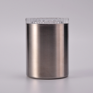 304 stainless steel candle jars with lid