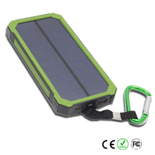 portable usb solar powerbank 10000mah for outdoor travelling