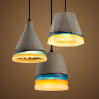 New products resin cement hanging designer pendant lighting e27 china supplier