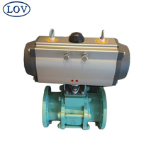 DN80 PN10 A216-WCB Body Chemical Lined Acid Resistance Split Body Motorized Ball Valve