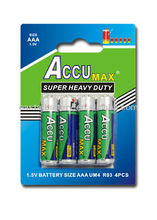 AAA size Zinc Carbon Dry Cell Battery R03P