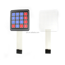 Hot Sell Matrix 16 Keys Membrane Switch Keypad 4x4 Electronic Keyboard