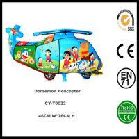 Hot sale Doraemon Helicopter foil balloon inflatable helium balloon