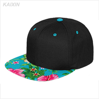 customize/custom digital printed brim design your own blank cheap snapback caps hats wholesale