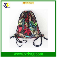 Fashion String Cinch Sack Sport Bag Print Sports Pack Drawstring Backpack