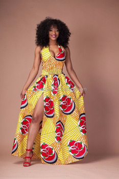 New africa lady clothing traditional print maxi dress kaftan dashiki dress