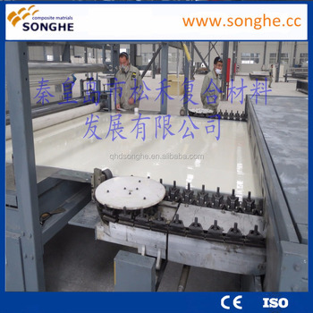 Grp fiberglass truck body , decorative sheet , GRP lighting roof sheet machine