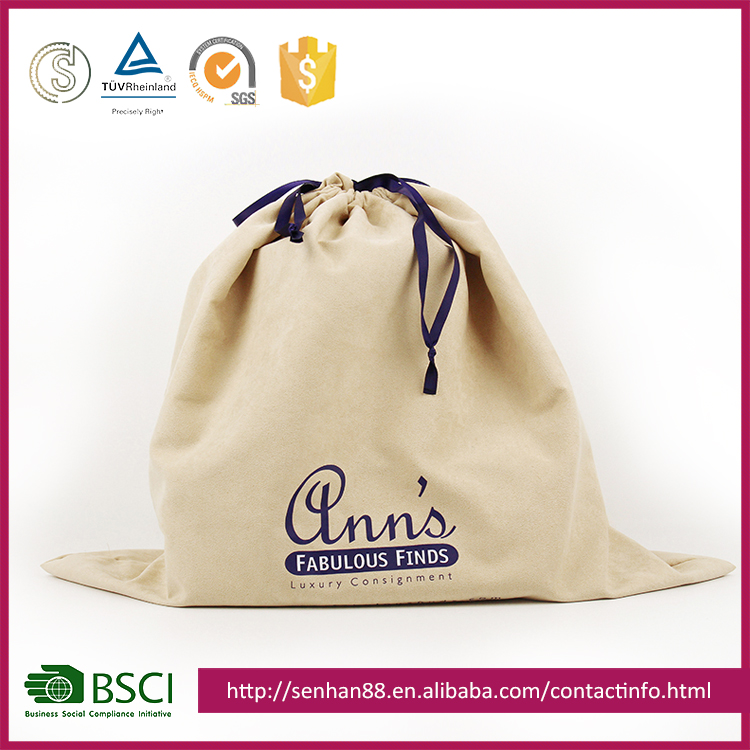 China Supplier Wholesale Yellow Drawstring Dust Bags