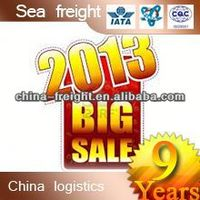 shipping container freight cost from shenzhen to a 2013 sea freight