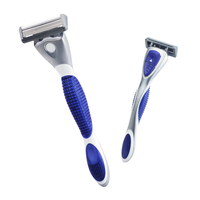 top quality 6 blade system razor, replacement shaving razor with 4pcs per cartridge