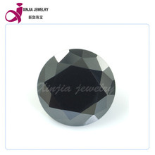 Black Round 8MM loose Cubic Zirconia stone Brilliant diamond cut