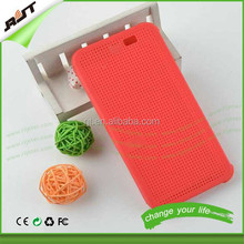 Fashionable flip smart dot view case for htc one m9,for htc one m8 m9 dot view case