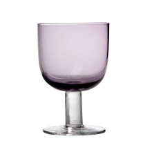 Casart Factory Direct Smoke-grey Color Square Wine Glass, Purple Wine Glass