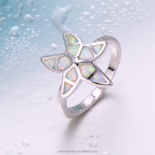 Wholesale newest beautiful charming star shape opal ring