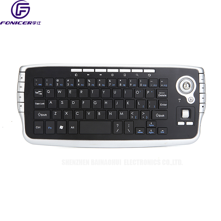 2017 new 2.4g mini wireless keyboard with trackball mouse for smart tv
