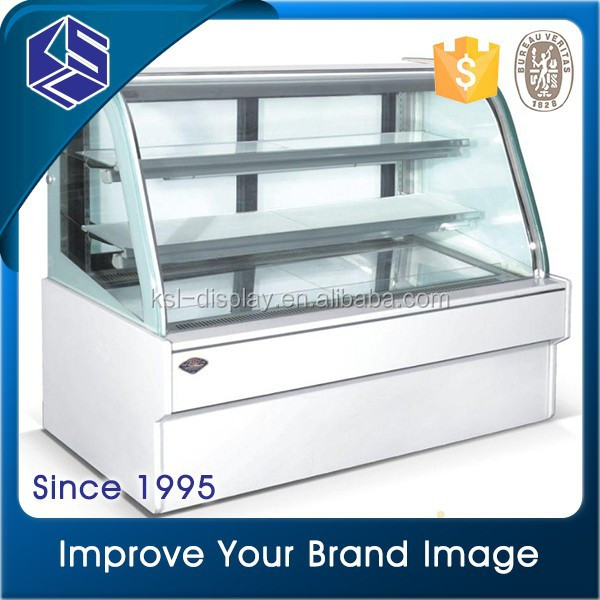 Hot sale bakery equipment T glass cake display chiller