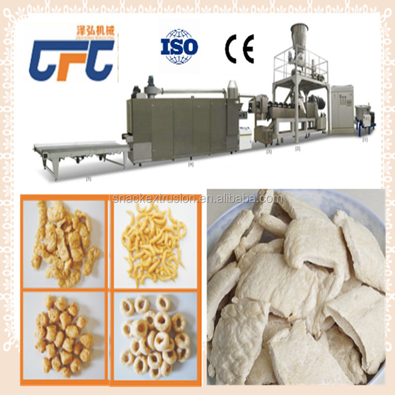Automatic Soy fake protein meat buler extruder production line
