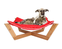 Large Bamboo Cat - Dog Hammock / Pet Lounge / Bed - Features Up To 25-Pound Load Capacity