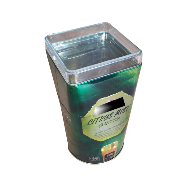 food safe metal tea tin box package