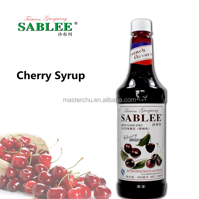 SABLEE cherry flavor syrup for cocktail with HALAL 900ml