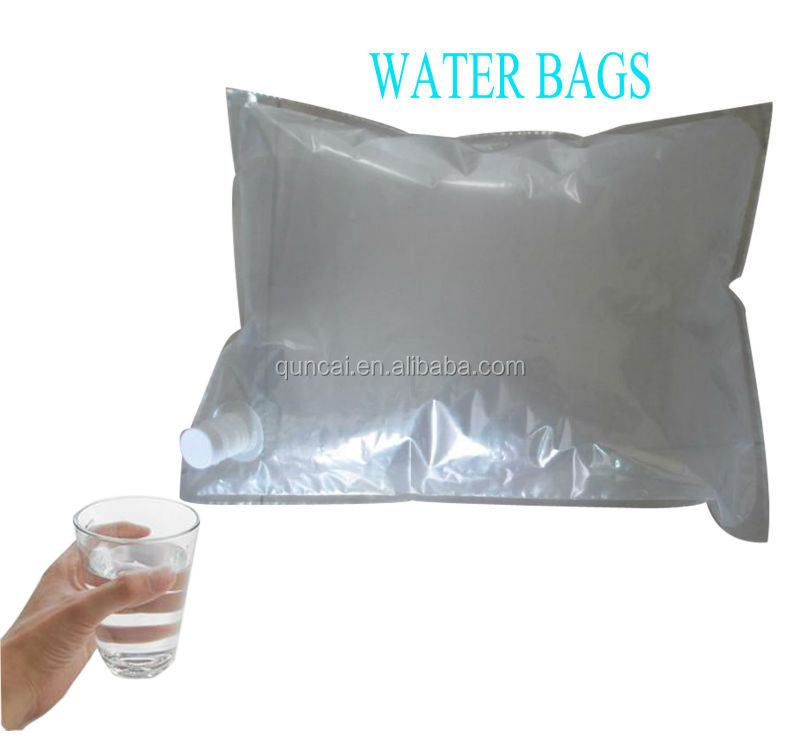 BIB 20 liter water bag in box with spout