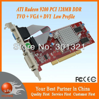 ATI Radeon 9200 128MB Low Profile DVI pci bus vga video graphic card