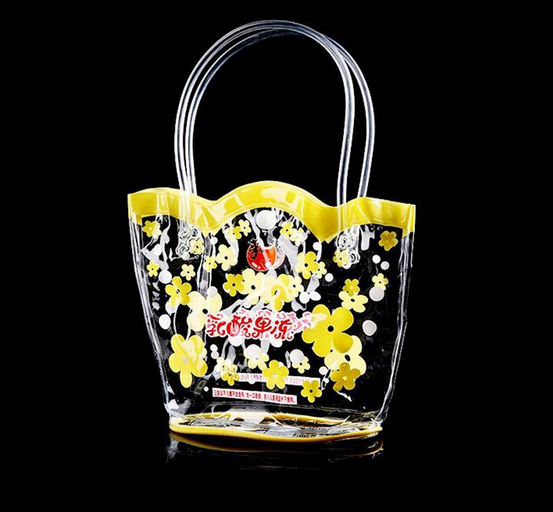 Customise Logo Printing Fashion PVC Clear Vinyl Handbag