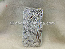 Beautiful crystal diamond leather case for apple iphone 5