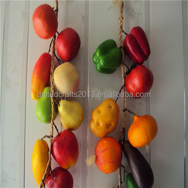 wholesale lifelike foam artificial fruit hanging for home decor