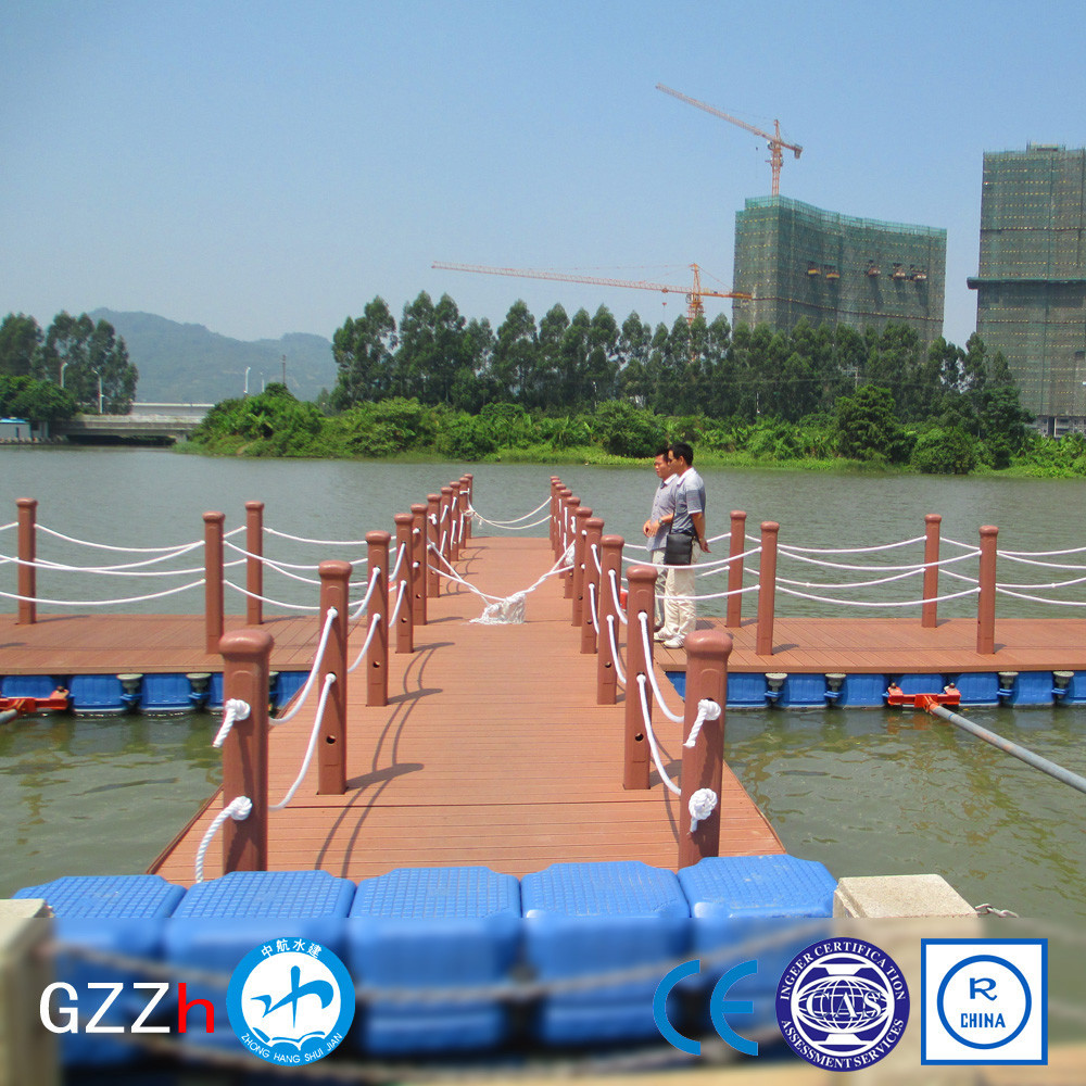 Environmentally friendly marina ship floating dock