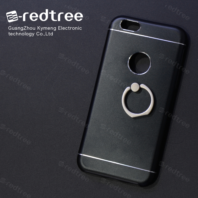 Sand Finish Sublimation Black with Ring Holder TPU+Metal Mobile Phone Case Cover for Iphone 5s 6s 6plus 7