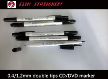 fiber&metal twin tip CD/DVD marker pen