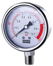 "Custom 2.5"" competitive fill liquid pressure gauge"