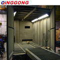 U-shaped scraper conveyor recovery sandblasting room