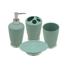 New PP ABS Bathroom Accessory set 4pcs/plastic sanitary ware/cheap bathroom