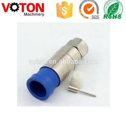 Waterproof Manufacture CATV Male F type connector RG11 RG6 Compression F Connector
