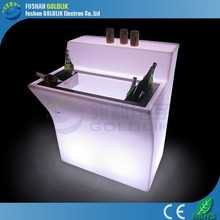 LED Illuminated Plastic Bar counter with Top Ice Bucket