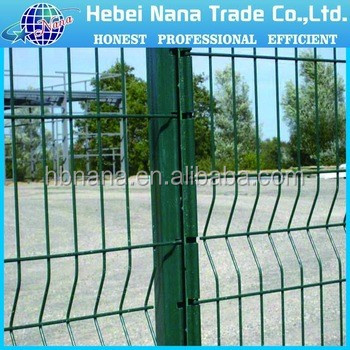 Hot sale pvc coated welded garden folding fence / pvc coated wire mesh fence