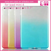 Gradients color TPU Back Cover Case for mini4 ipad