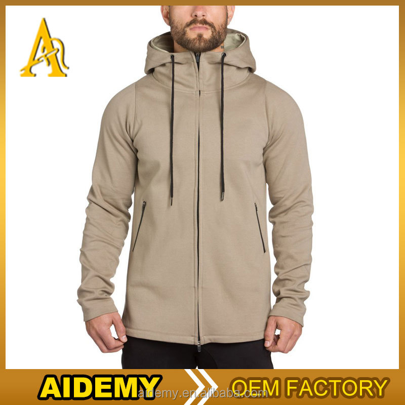 2017 Latest men hoodie jacket embroider oversized fleece cropped top hoodie