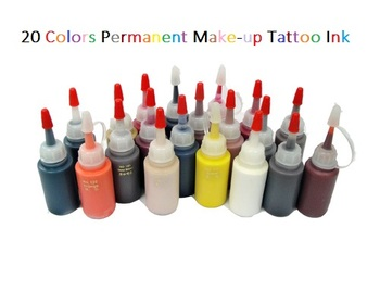 20 Colors Permanent Make-up Tattoo Ink