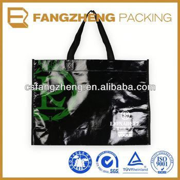 Custom color printing cheap plastic bag supplier reusable grocery backpack shopping bags