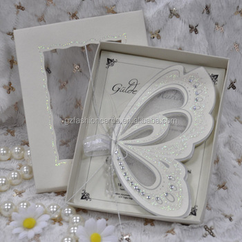 Hot sale! stock-in-trade Royal Butterfly Shape Wedding Invitations Cards