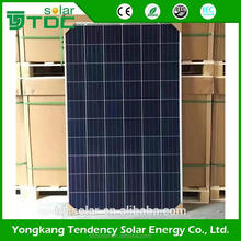 2017 Hot sales cheap price transparent glass solar panel/solar module