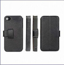 Real Leather Hand Phone Side-open Covers for iPhone4/4S