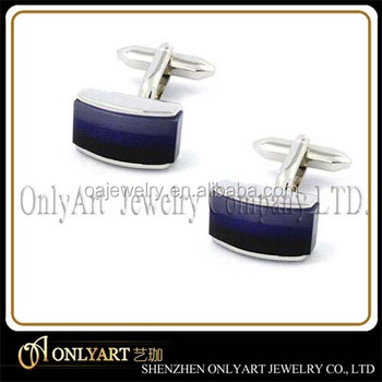 top quality lapis lazuli brass gemstone cufflinks